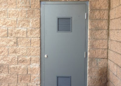 Hollow Metal Door  & Frame with (2) Louvers Installed
